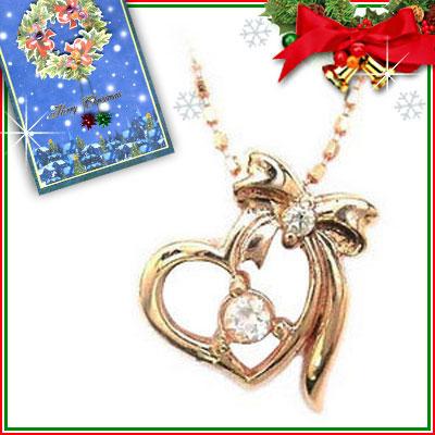 クリスマス限定Xmasカード付( 6月誕生石 ) K10ピンクゴールド ムーンストーンペンダントネックレス【DEAL】