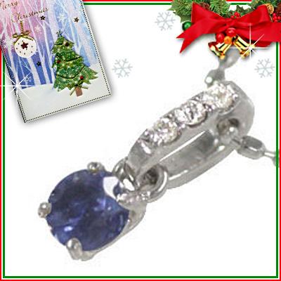サファイア ネックレス クリスマス限定Xmasカード付( 9月誕生石 ) K18ホワイトゴールド サファイアペンダントネックレス【DEAL】