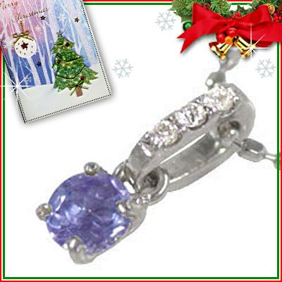 タンザナイト ネックレス クリスマス限定Xmasカード付( 12月誕生石 ) K18ホワイトゴールド タンザナイトペンダントネックレス【DEAL】