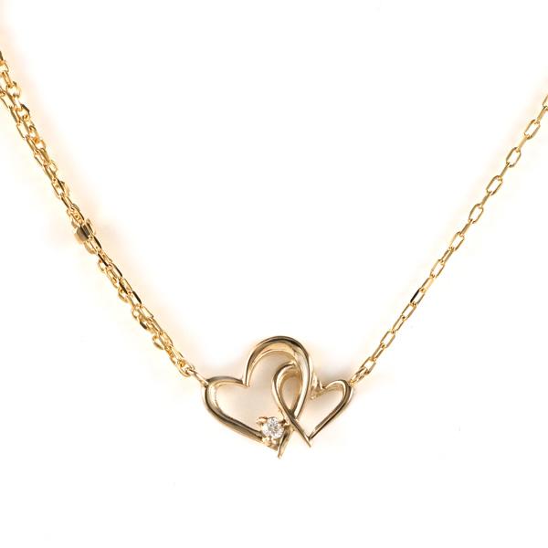 ブレスレット K10イエローゴールド 10金 K10 10k ダイヤモンド ダイヤ ハート 人気 おすすめ レディース 女性