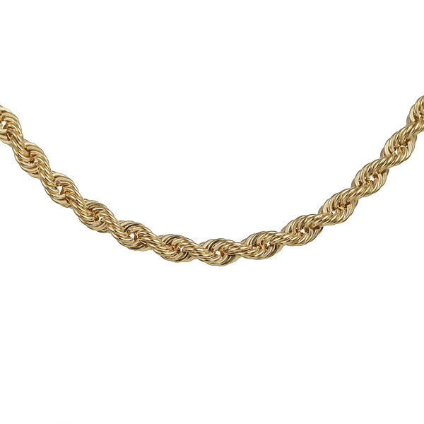 18金 イエローゴールド ロープ ブレスレット メンズ
