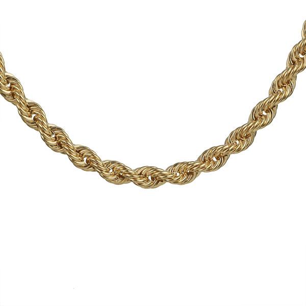 18金 イエローゴールド ロープ ブレスレット レディース