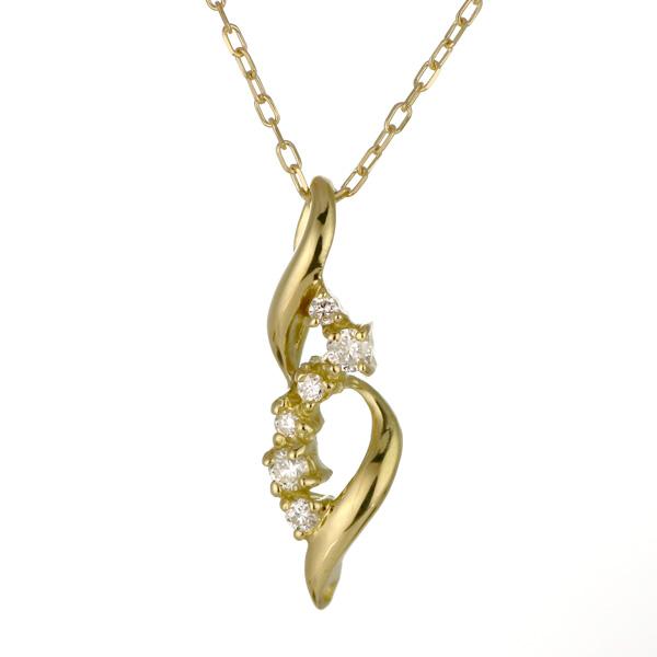 ネックレス K18イエローゴールド 18金 K18 18k ダイヤモンド シャープ 人気 おすすめ レディース 女性