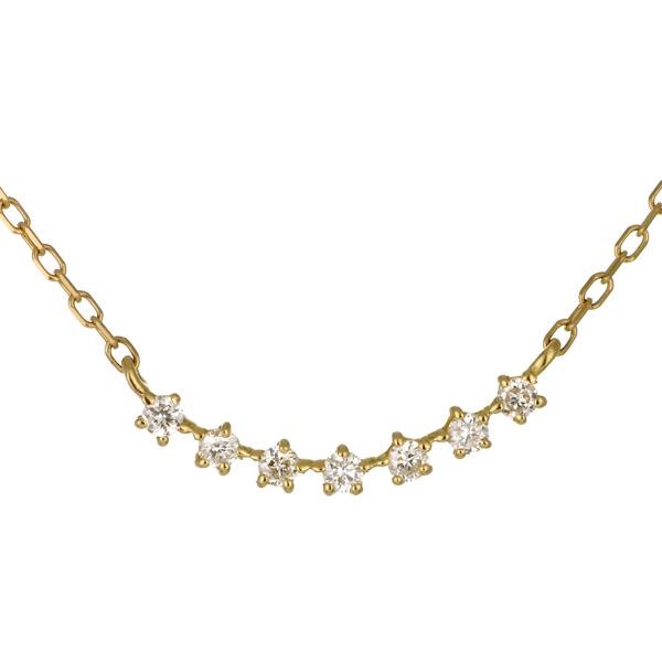 ネックレス K18イエローゴールド 18金 K18 18k ダイヤモンド シンプル 人気 おすすめ レディース 女性【DEAL】 末広 スーパーSALE