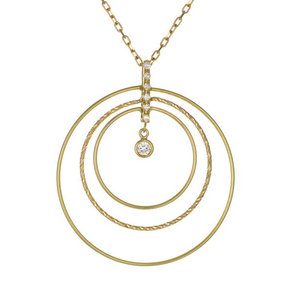 ペンダント K18イエローゴールド 18金 K18 18k ダイヤモンド シンプル 人気 おすすめ レディース 女性【DEAL】