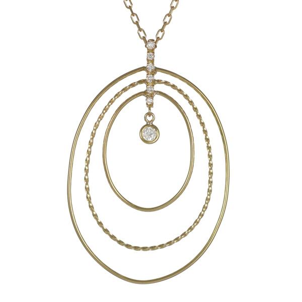 ネックレス K18イエローゴールド 18金 K18 18k ダイヤモンド シンプル 人気 おすすめ レディース 女性