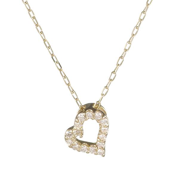 ネックレス K10イエローゴールド 10金 K10 10k ダイヤモンド ハート 人気 おすすめ レディース 女性【DEAL】