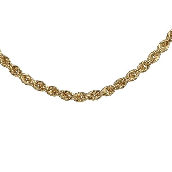 18金 イエローゴールド ロープ ネックレス