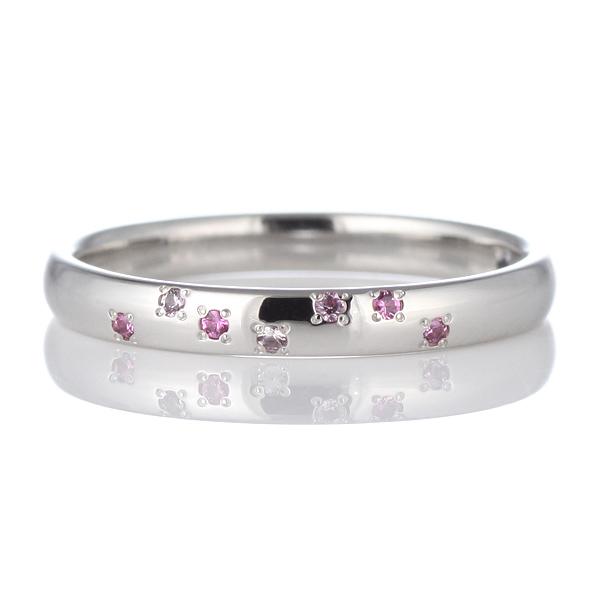 サファイア リング パラジウム スワロフスキー SWAROVSKI マリッジリング ペアリング 指輪【DEAL】