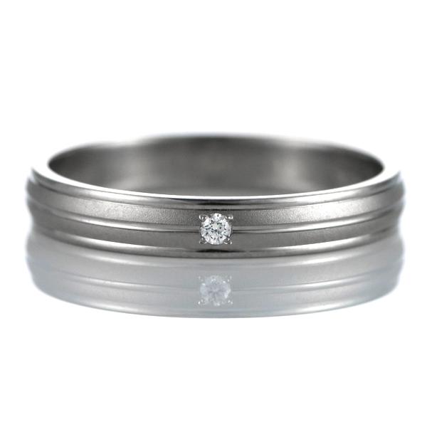 ダイヤモンド 結婚指輪 マリッジリング ペアリング つや消し ストレート パラジウム 末広 スーパーSALE【今だけ代引手数料無料】