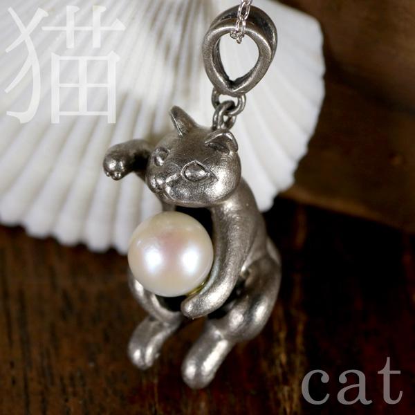 猫 シルバー ネックレス プレゼント