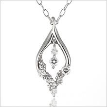 ダイヤモンド ダイヤモンドネックレス ネックレス 【10粒 ダイヤネックレス ♪】 ハート ダイヤ ホワイトゴールド ダイヤモンド プレゼント