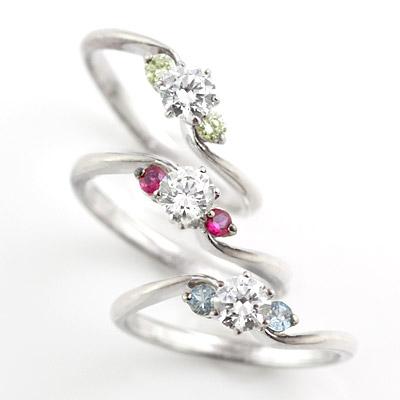 選べる誕生石 プラチナ ダイヤモンドリング(婚約指輪・エンゲージリング) 【DEAL】 末広 スーパーSALE