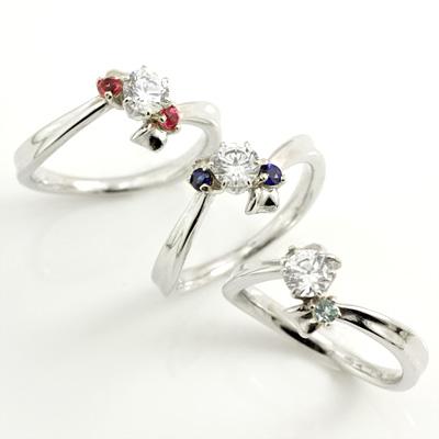 選べる誕生石 プラチナ ダイヤモンドリング(婚約指輪・エンゲージリング)【DEAL】 末広 スーパーSALE