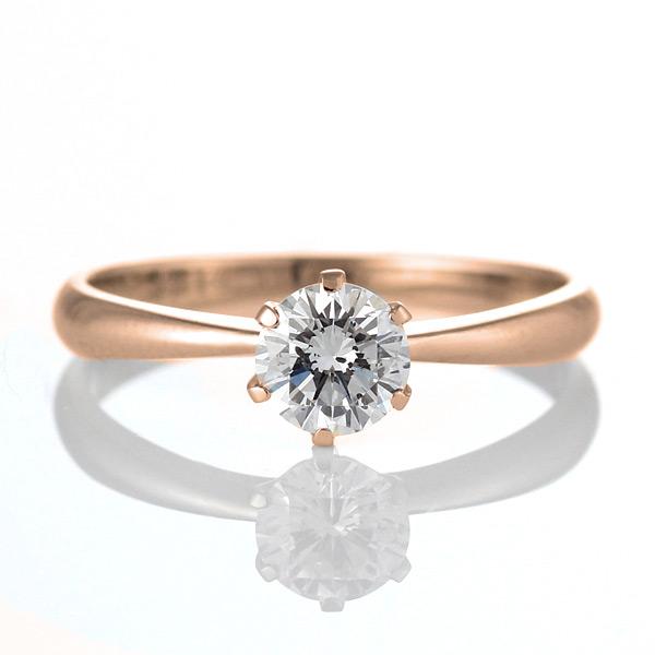 婚約指輪 エンゲージリング ダイヤモンド ダイヤ K18PG リング【DEAL】 末広 スーパーSALE