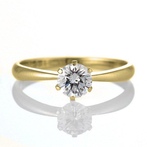 婚約指輪 エンゲージリング ダイヤモンド ダイヤ K18YG リング【DEAL】 末広 スーパーSALE【今だけ代引手数料無料】