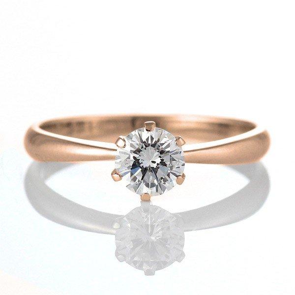 リング【DEAL】 ダイヤモンド K18PG 婚約指輪 ダイヤ 末広 エンゲージリング スーパーSALE【今だけ代引手数料無料】