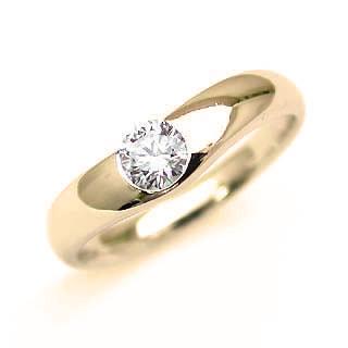 婚約指輪 エンゲージリング ダイヤモンド ダイヤ K18YG リング 末広 スーパーSALE【今だけ代引手数料無料】