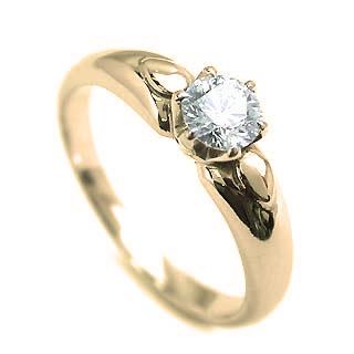 指輪 リング 指輪 レディース ダイヤモンド指輪 ダイヤモンド 一粒 イエローゴールド 末広 スーパーSALE