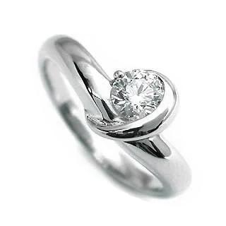 AneCan掲載 (Brand アニーベル) Pt ダイヤモンドデザインリング(婚約指輪・エンゲージリング) ソリティア 一粒