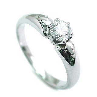 立爪 エンゲージリング ダイヤモンド ダイヤ プラチナ リング 婚約指輪 0.35ct