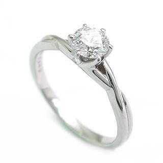 立爪 エンゲージリング ダイヤモンド ダイヤ プラチナ リング 婚約指輪 ソリティア 0.33ct