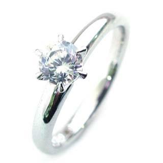 立爪 エンゲージリング ダイヤモンド ダイヤ プラチナ リング 婚約指輪 0.33ct