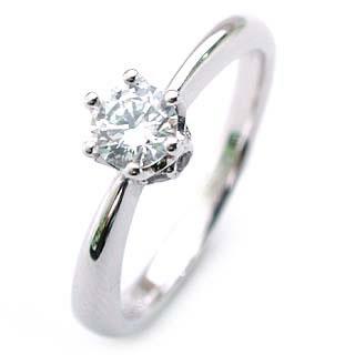 AneCan掲載 (Brand アニーベル) Pt ダイヤモンドデザインリング(婚約指輪・エンゲージリング) ソリティア 一粒 【DEAL】 末広 スーパーSALE