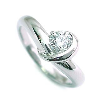 ハート&キューピット エンゲージリング ダイヤモンド ダイヤ プラチナ リング 婚約指輪 0.35ct