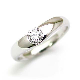 鑑定書付き エンゲージリング ダイヤモンド ダイヤ プラチナ リング 婚約指輪 0.35ct