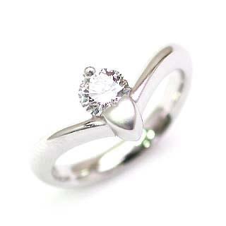 鑑定書付き エンゲージリング ダイヤモンド ダイヤ プラチナ リング 婚約指輪 0.33ct