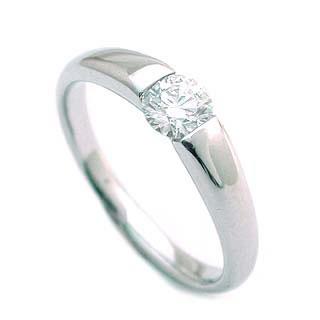 鑑定書付 婚約指輪 ダイヤモンド プラチナ リング エンゲージリング ダイヤ 婚約指輪 一粒 大粒 プロポーズ用 0.33ct