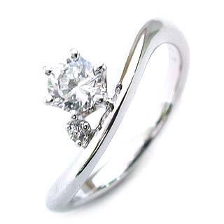 エンゲージリング ダイヤモンド ダイヤ プラチナ リング 婚約指輪 0.33ct【DEAL】