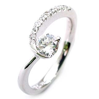 エンゲージリング ダイヤモンド ダイヤ プラチナ リング 婚約指輪 0.33ct