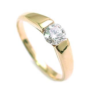 AneCan掲載 (Brand アニーベル) K18ダイヤモンドデザインリング(婚約指輪・エンゲージリング) ソリティア 一粒