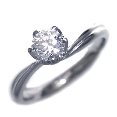 AneCan掲載 ( 婚約指輪 ) ダイヤモンド プラチナエンゲージリング( Brand Jewelry アニーベル ) ソリティア 一粒 末広 スーパーSALE