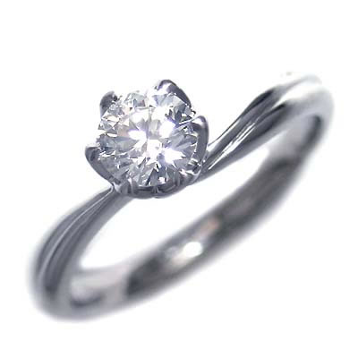 AneCan掲載 ( 婚約指輪 ) ダイヤモンド プラチナエンゲージリング( Brand Jewelry アニーベル ) ソリティア 一粒 【DEAL】 末広 スーパーSALE