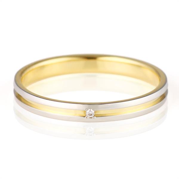 結婚指輪 マリッジリング ペアリング ダイヤモンド プラチナ K18イエローゴールド Himawari 人気 末広 スーパーSALE【今だけ代引手数料無料】