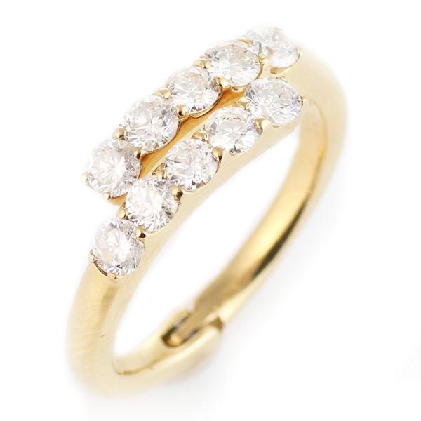 ダイヤモンド リング 指輪 ピンキーリング イエローゴールド 18金 K18 18k 1ct 1カラット ダイヤモンドリング レディース おすすめ 人気