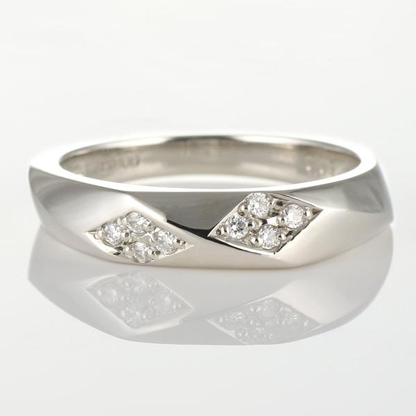 ダイヤモンド プラチナ メンズ レディース ペア リング