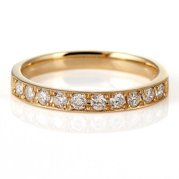 スイート エタニティ ダイヤモンド ピンクゴールド リング 指輪 0.3 カラット 18金 K18 18k 結婚 婚約 10年目 記念【DEAL】