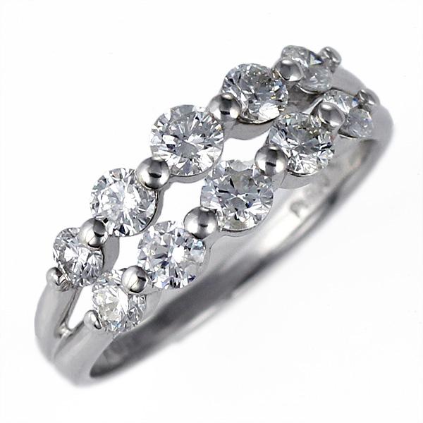 ダイヤモンド プラチナ リング 指輪 ダイヤ 1カラット スイート エタニティ 結婚 婚約 10年目 記念【DEAL】