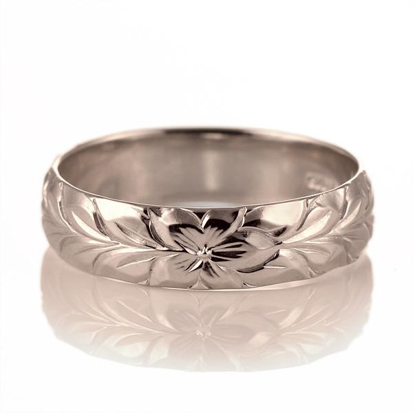 ハワイアンジュエリー メンズ リング 人気 ピンクゴールド 18金 K18 18k 幅約5mm 指輪 ファッション デザイン マイレ【DEAL】
