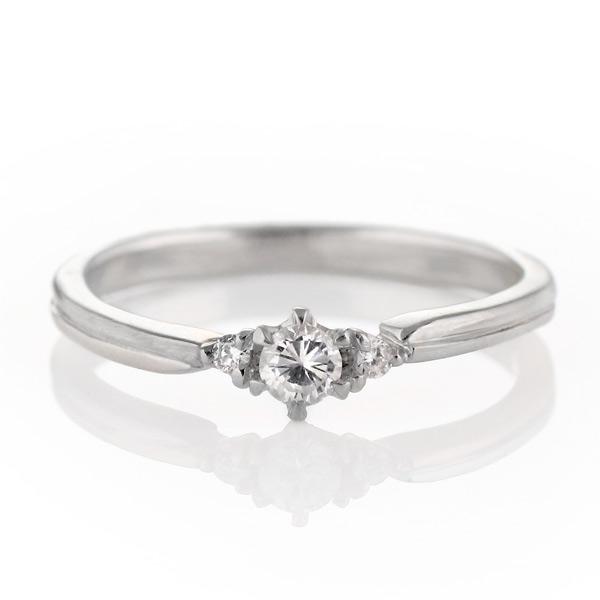 ダイヤモンド リング 婚約指輪 プラチナ エンゲージリング 一粒 ストレート 末広 スーパーSALE
