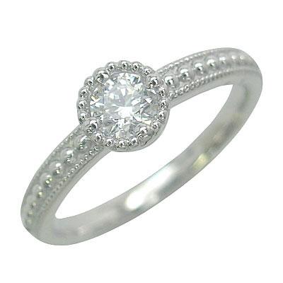 エンゲージリング ダイヤモンド ダイヤ プラチナ リング 婚約指輪 0.35ct 【DEAL】