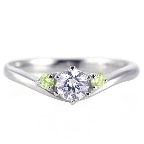婚約指輪 ダイヤモンド プラチナリング 一粒 大粒 指輪 エンゲージリング 0.3ct プロポーズ用 レディース 人気 ダイヤ 刻印無料 8月 誕生石 ペリドット