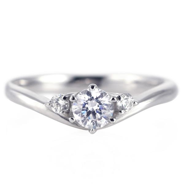 婚約指輪 ダイヤモンド プラチナリング 一粒 大粒 指輪 エンゲージリング 0.4ct プロポーズ用 レディース 人気 ダイヤ 刻印無料 4月 誕生石 ダイヤモンド