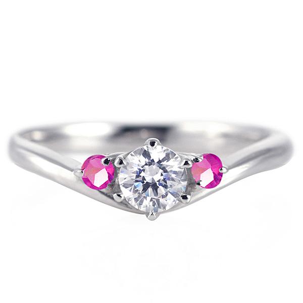 婚約指輪 ダイヤモンド プラチナリング 一粒 大粒 指輪 エンゲージリング 0.4ct プロポーズ用 レディース 人気 ダイヤ 刻印無料 7月 誕生石 ルビー