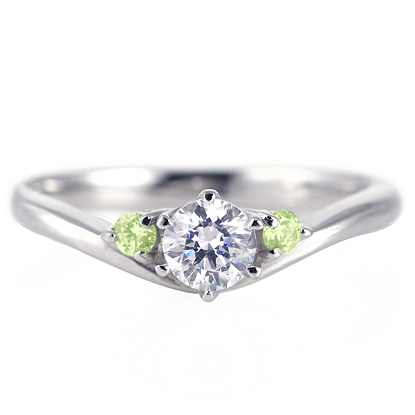婚約指輪 ダイヤモンド プラチナリング 一粒 大粒 指輪 エンゲージリング 0.4ct プロポーズ用 レディース 人気 ダイヤ 刻印無料 8月 誕生石 ペリドット