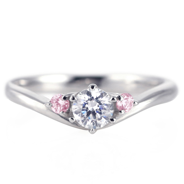 婚約指輪 ダイヤモンド プラチナリング 一粒 大粒 指輪 エンゲージリング 0.4ct プロポーズ用 レディース 人気 ダイヤ 刻印無料 10月 誕生石 ピンクトルマリン